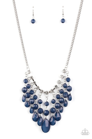 Paparazzi Accessories - Social Network - Blue Necklace