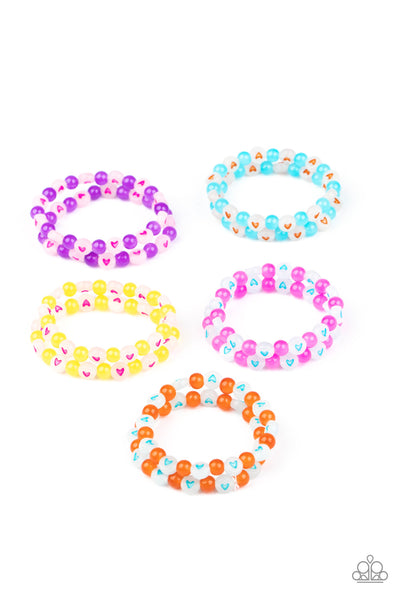 Paparazzi Accessories - Starlet Shimmer - Heart Beaded Bracelets