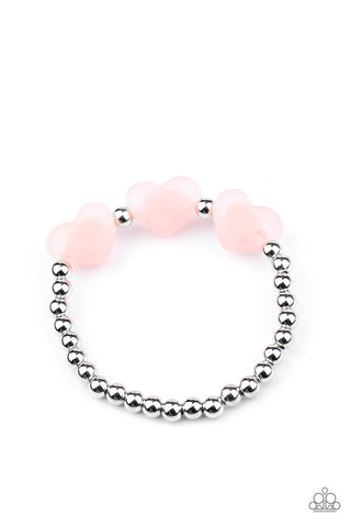 Paparazzi Accessories - Starlet Shimmer - Frosted Heart Bracelets