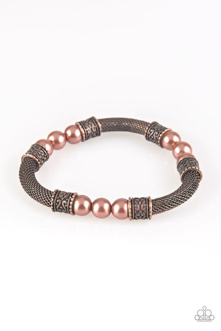 Paparazzi Accessories - Talk Some SENSEI - Copper Bracelet