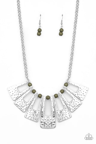 Paparazzi Accessories - Terra Takeover - Green Necklace
