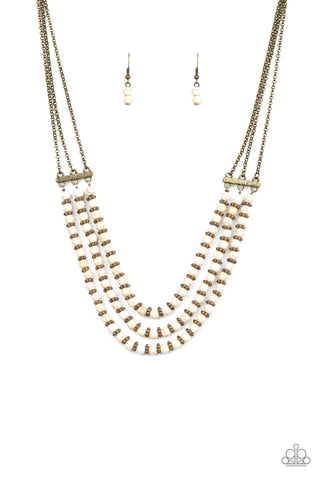 Paparazzi Accessories - Terra Trails - White Necklace