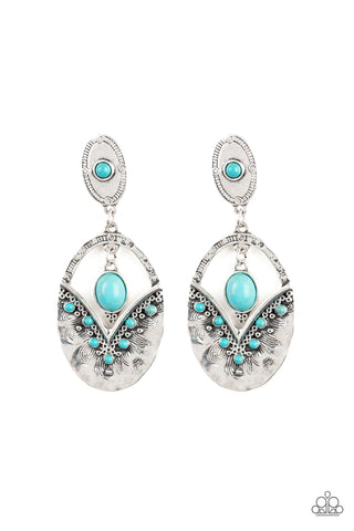 Paparazzi Accessories - Terra Tribute - Blue Earrings