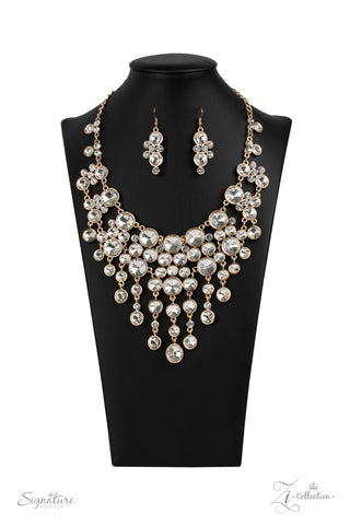 Paparazzi Accessories - The Rosa - Gold Necklace Set