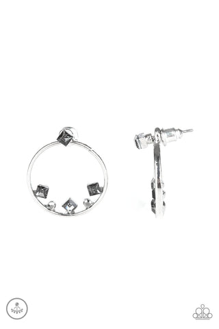Paparazzi Accessories - Top-Notch Twinkle - Silver Earrings
