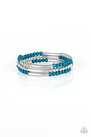 Paparazzi Accessories - Tourist Trap - Blue Bracelet
