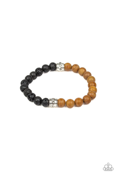 Paparazzi Accessories - Tuned In - Brown Bracelet