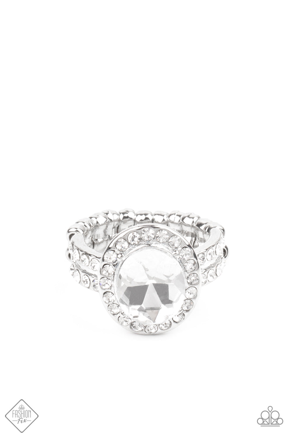 Paparazzi Accessories - Unstoppable Sparkle - White Ring