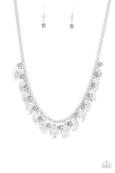 Paparazzi Accessories - Vintage Gardens - Silver Necklace