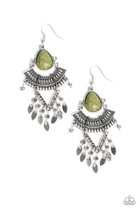 Paparazzi Accessories - Vintage Vagabond - Green Earrings