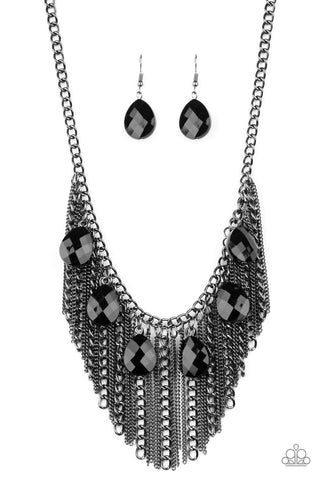 Paparazzi Accessories - Vixen Conviction - Black Necklace