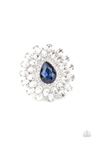 Paparazzi Accessories - Whos Counting? - Blue Ring