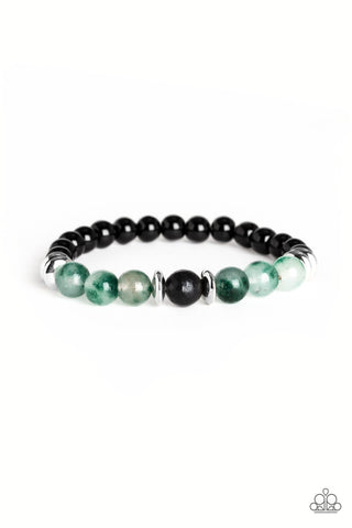Paparazzi Accessories - World Peace - Green Bracelet