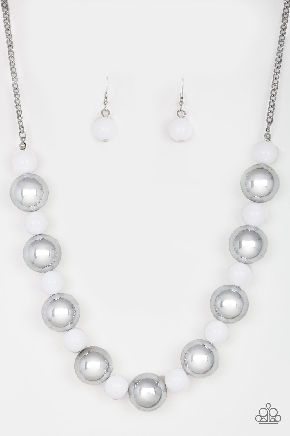 Paparazzi Accessories - Top Pop - White Necklace Set - JMJ Jewelry Collection