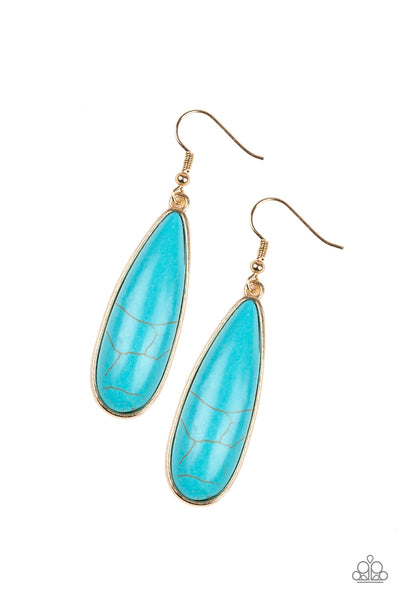 Paparazzi Accessories - Santa Fe Skies - Gold Earrings - JMJ Jewelry Collection