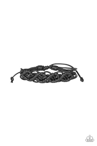 Paparazzi Accessories - Boondocks and Bonfires - Black Bracelet - JMJ Jewelry Collection