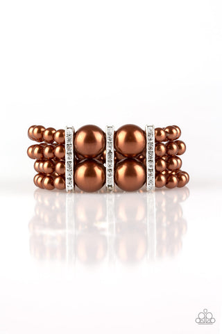 Paparazzi Accessories - Romance Remix - Brown Bracelet