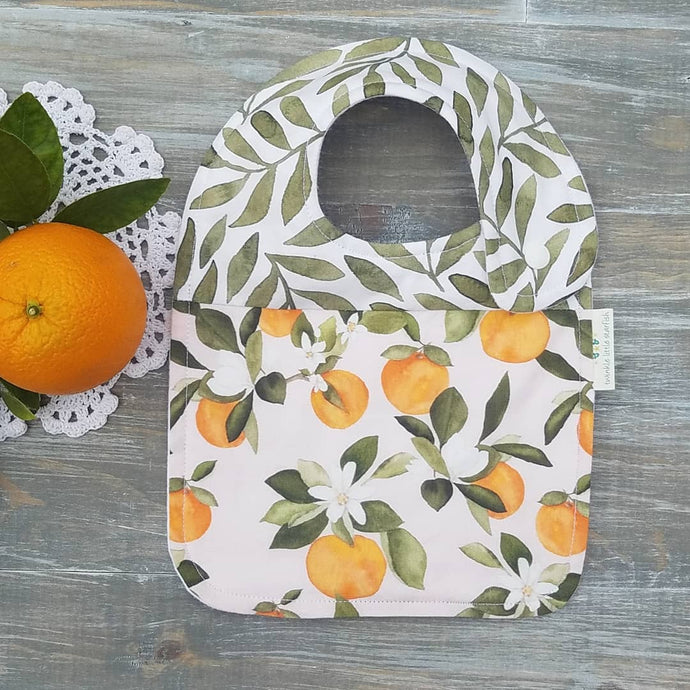 Twinkle Little Starfish - Orange Blossom Drool Bib - littlelightcollective