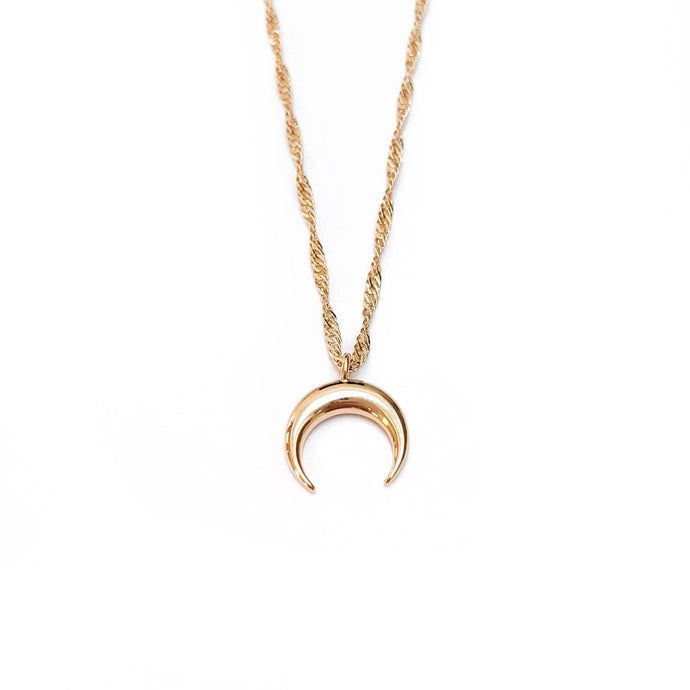 C. Dahl - Gold Crescent Necklace - littlelightcollective