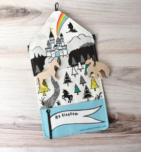 Fairytale - Small Tote Playmat & Wooden Toys - littlelightcollective