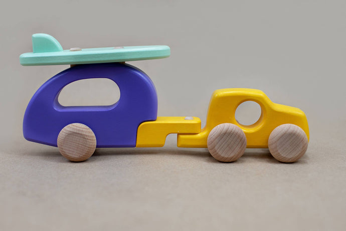 Bajo Wooden Car with Camper - littlelightcollective