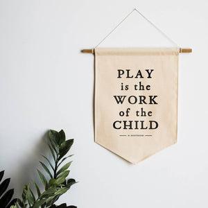 The Oyster's Pearl - Play Is The Work Of The Child Canvas Banner - littlelightcollective