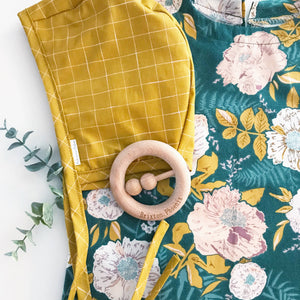 Bonnet: Mustard Grid - littlelightcollective