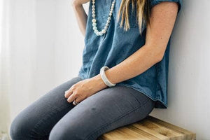 Chewable Charm - The Avery - Gray Teething Bracelet - littlelightcollective