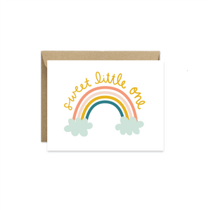 Sweet Little One Baby Card - littlelightcollective