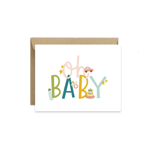 Oh Baby Greeting Card - littlelightcollective