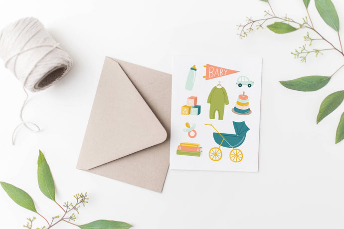 Baby Toys Congratulations Card - littlelightcollective