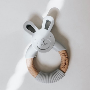 Pretty Please Boutique Teethers - Bunny Teether || Teething Ring || Riverstone - littlelightcollective