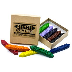 Recycle Sticks Crayon - 10 Box - littlelightcollective