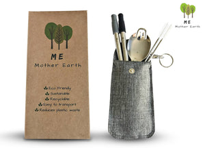 Me.Mother Earth - Me Mother Earth Collapsible Straw and Spork Kit - littlelightcollective