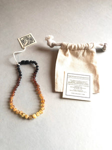 CanyonLeaf - Kids: Raw Ombre Amber Necklace - littlelightcollective