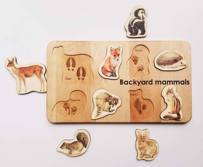 Backyard Mammals Puzzle - littlelightcollective