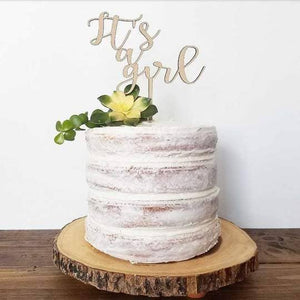 Ginger Squared - Cake Topper - It's A Girl - littlelightcollective