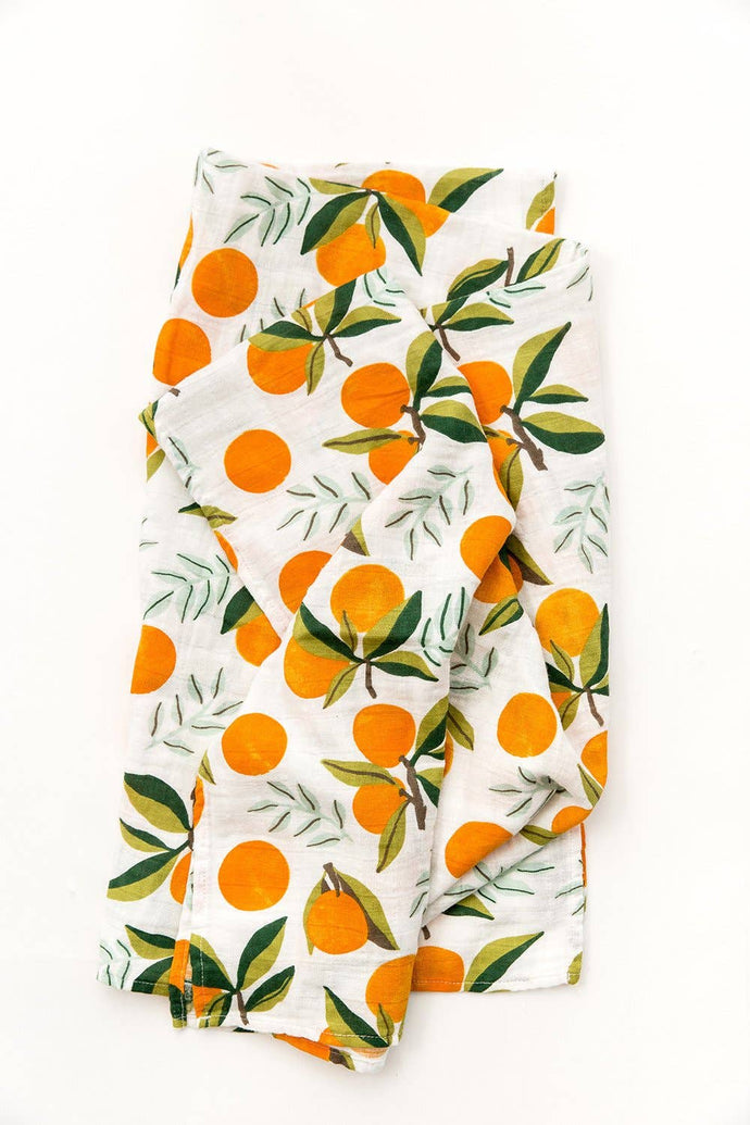 Clementine Swaddle Blanket - littlelightcollective