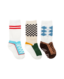Cheski Sock Company - Baby Boy Shoe Socks - Pack of 3 - littlelightcollective