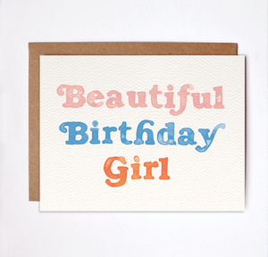 Daydream Prints - Beautiful Birthday Girl Card - littlelightcollective