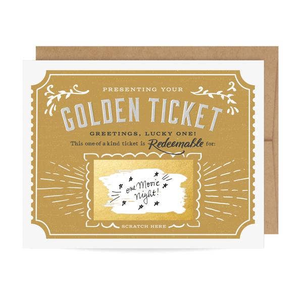 Inklings Paperie - Golden Ticket Scratch-off Card - littlelightcollective