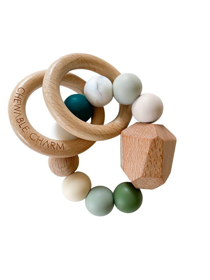 Hayes Silicone + Wood Teether - Winter - littlelightcollective