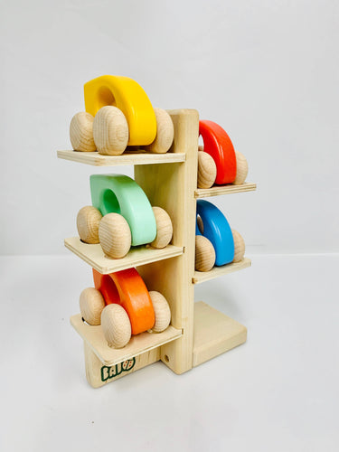 BAJO Wooden Toy Car or Display Stand - littlelightcollective