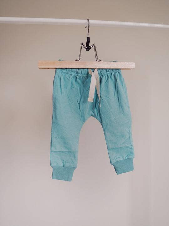 Brushed Cotton Joggers - Teal Bottoms - littlelightcollective