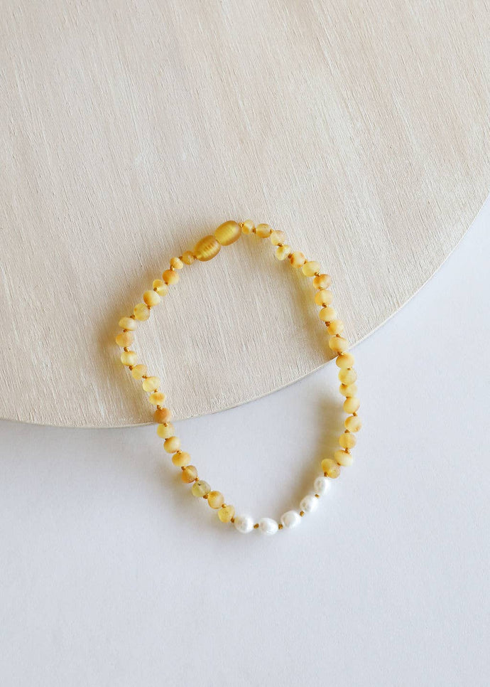 CanyonLeaf - Kids: Raw Honey Amber + Pearls - littlelightcollective