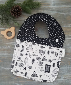 The Great Outdoors Drool Bib - littlelightcollective
