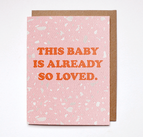 Daydream Prints - Baby so loved card - littlelightcollective