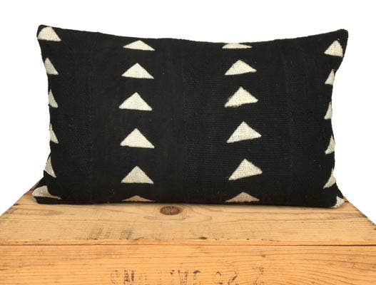 One Fine Nest Pillow - Triforce Mud Cloth Pillowcase - littlelightcollective
