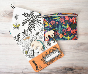 Jungle Safari - Small Tote Playmat & Wooden Toys - littlelightcollective