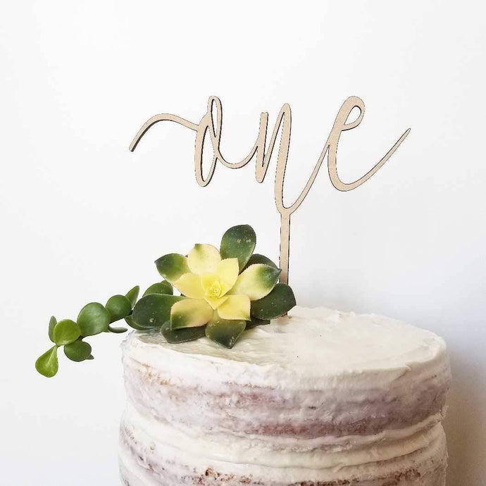 Ginger Squared - Cake Topper - One - littlelightcollective